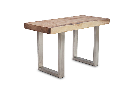 Origins Straight Edge Bench Small, Stainless Steel Legs