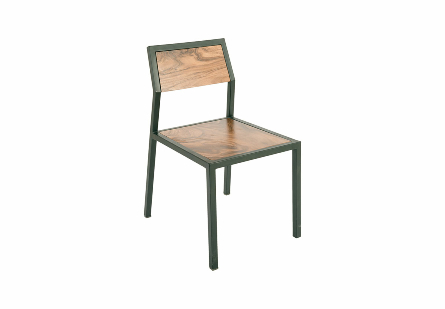 Crook Chair Chamcha Wood/Black Metal