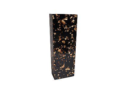 Captured Gold Flake Vase Black, SM