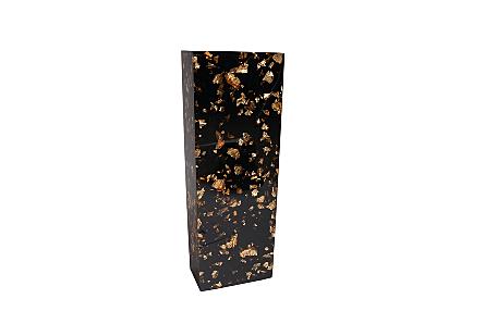 Captured Gold Flake Vase Black, SM