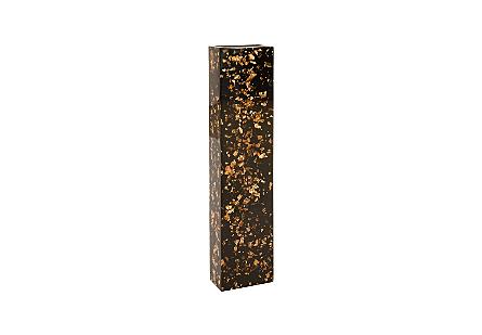 Captured Gold Flake Vase Black, LG
