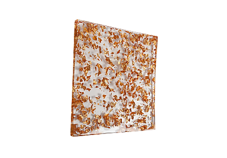 Captured Gold Flake Wall Tile Clear