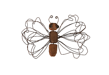 Wire Wing Butterfly Wall Art SM