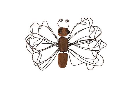 Wire Wing Butterfly Wall Art SM