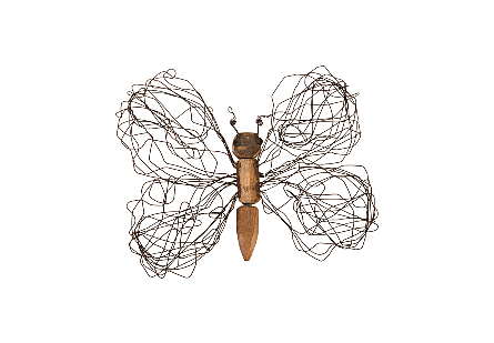 Wire Wing Butterfly Wall Art MD