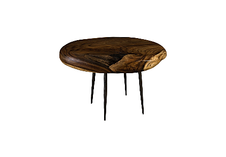 Skipping Stone Side Table Forged Legs