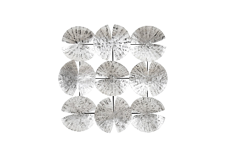 Ginko Leaf Wall Art 9 Leaves, Silver