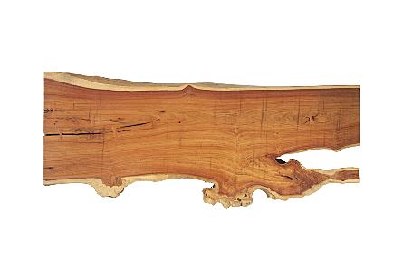 Pradoo Burled Wood Desk Black Metal Legs