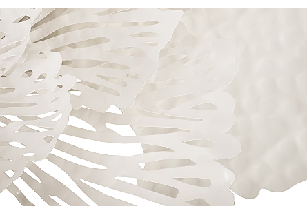 Flower Wall Art Medium, White, Metal