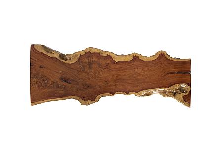Pradoo Burled Wood Coffee Table Forged Iron Legs