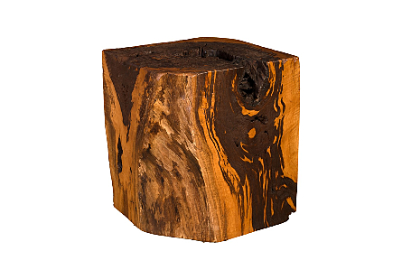 Mai Theng Burled Wood Side Table