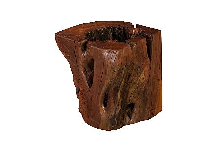 Payom Burled Wood Side Table