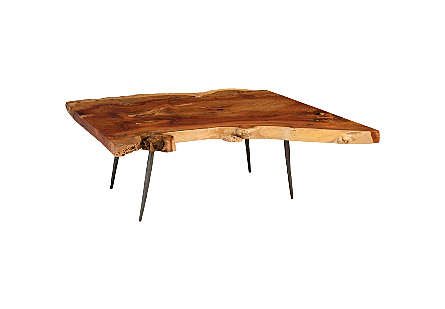 Origins Dining Table Freeform, Natural, Forged Legs