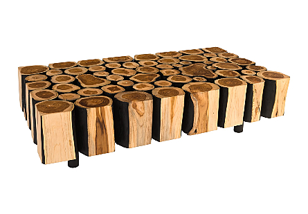 Boscage Coffee Table on Black Metal Legs Rectangular
