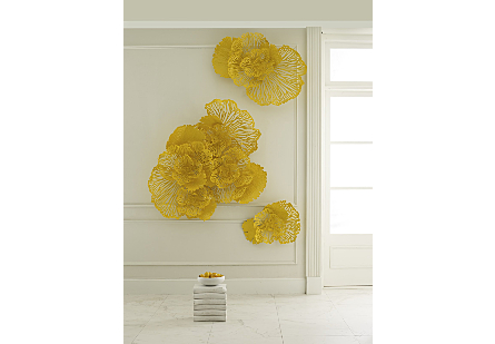 Flower Wall Art Large, Dandelion, Metal