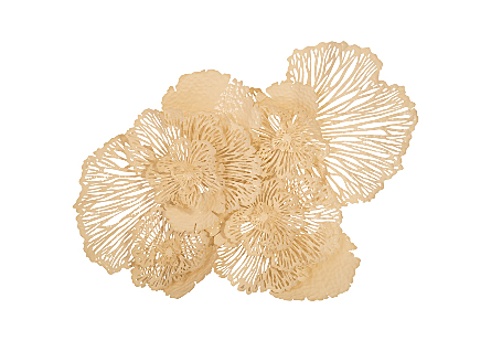Flower Wall Art Ivory, LG