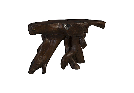 Chamcha Wood Console Table Espresso