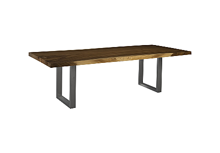 Live Edge Dining Table, Chamcha Wood SS Legs