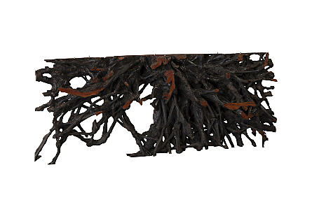 Lychee Wood Console Table Burnt Edge