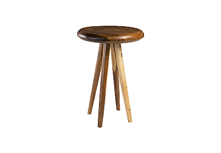 Smoothed Bar Table Chamcha Wood, Natural, Round