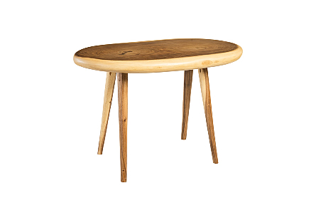 Smoothed Dining Table Chamcha Wood, Natural, Oval