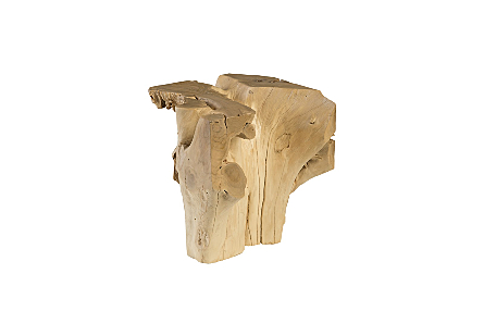 Bleached Teak Root Side Table