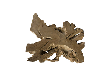 Teak Root Coffee Table Square, Bleached
