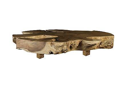 Origins Coffee Table Freeform, Natural, Wood Legs
