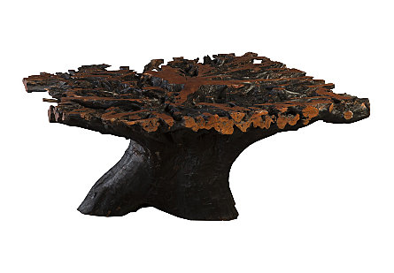 Lychee Root Dining Table Base Square