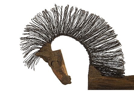 Wire Horse Sculpture Long Body
