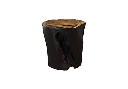 Chamcha Wood Dining Table Base Burnt Edge