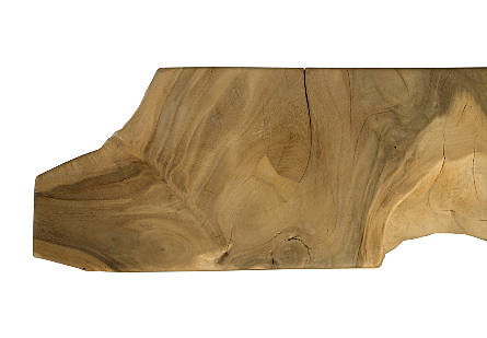 Chamcha Wood Console Table Super Bleached