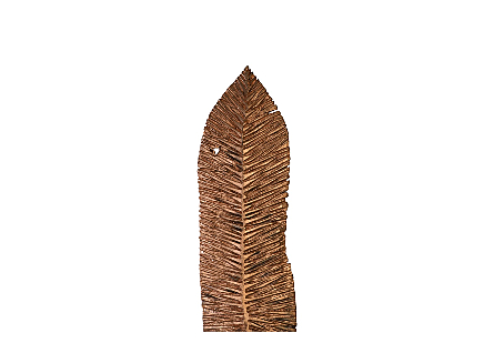 Carved Leaf on Stand, Copper Leaf XL