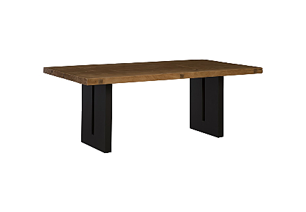 Live Edge Dining Table, Mai Theng Wood Iron Sheet Legs
