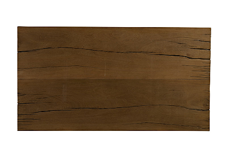 Live Edge Dining Table, Mai Theng Wood Iron Sheet Legs