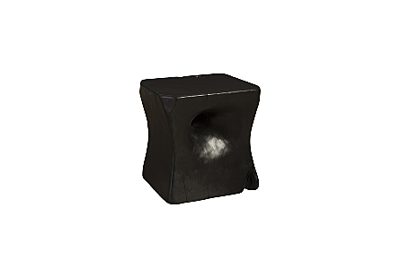 Peek a Boo Side Table Chamcha Wood, Ebony