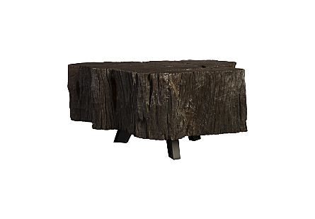 Black Wood Coffee Table w/Jingjoe Legs