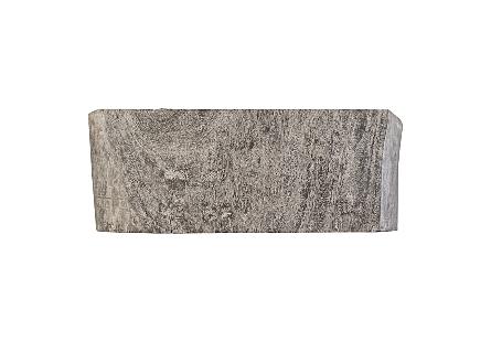 Chamcha Wood Console Table Grey Stone