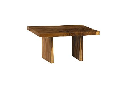 Live Edge Dining Table, Chamcha Wood Wood Legs