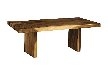 Origins Dining Table, Straight Edge Natural, Wood Legs