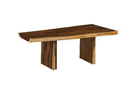 Origins Dining Table, Live Edge Natural, Wood Legs