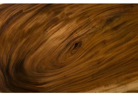 Origins Dining Table, Live Edge Natural, Wood Legs