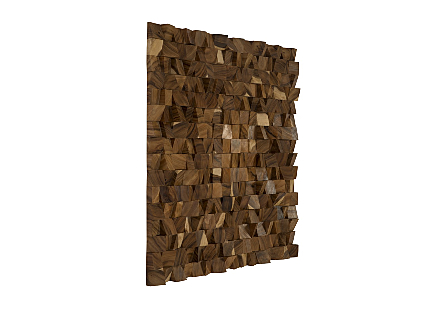 Blocks Wall Art Chamcha Wood, Natural, LG