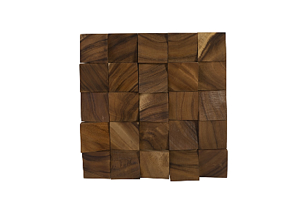 Blocks Wall Tile Chamcha Wood, Natural