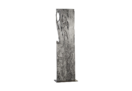 Pipal Wood Sculpture  Gray Stone