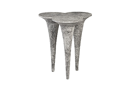 Marley Bar Table Chamcha Wood, Gray Stone Finish