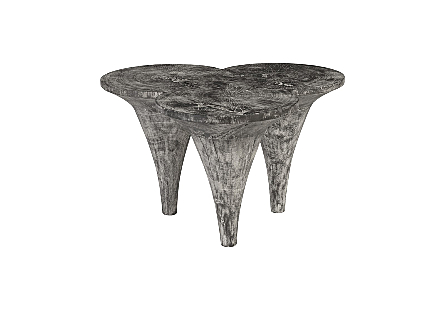 Marley Coffee Table Chamcha Wood, Grey Stone Finish