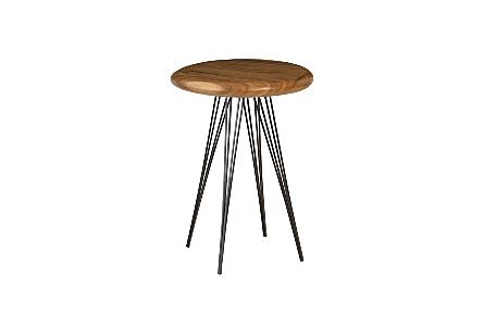 String Bar Table Four Metal Legs