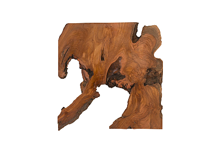 Sliced Wood Wall Tile Square, Natural, Assorted