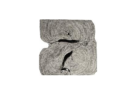 Chamcha Wood Coffee Table Grey Stone